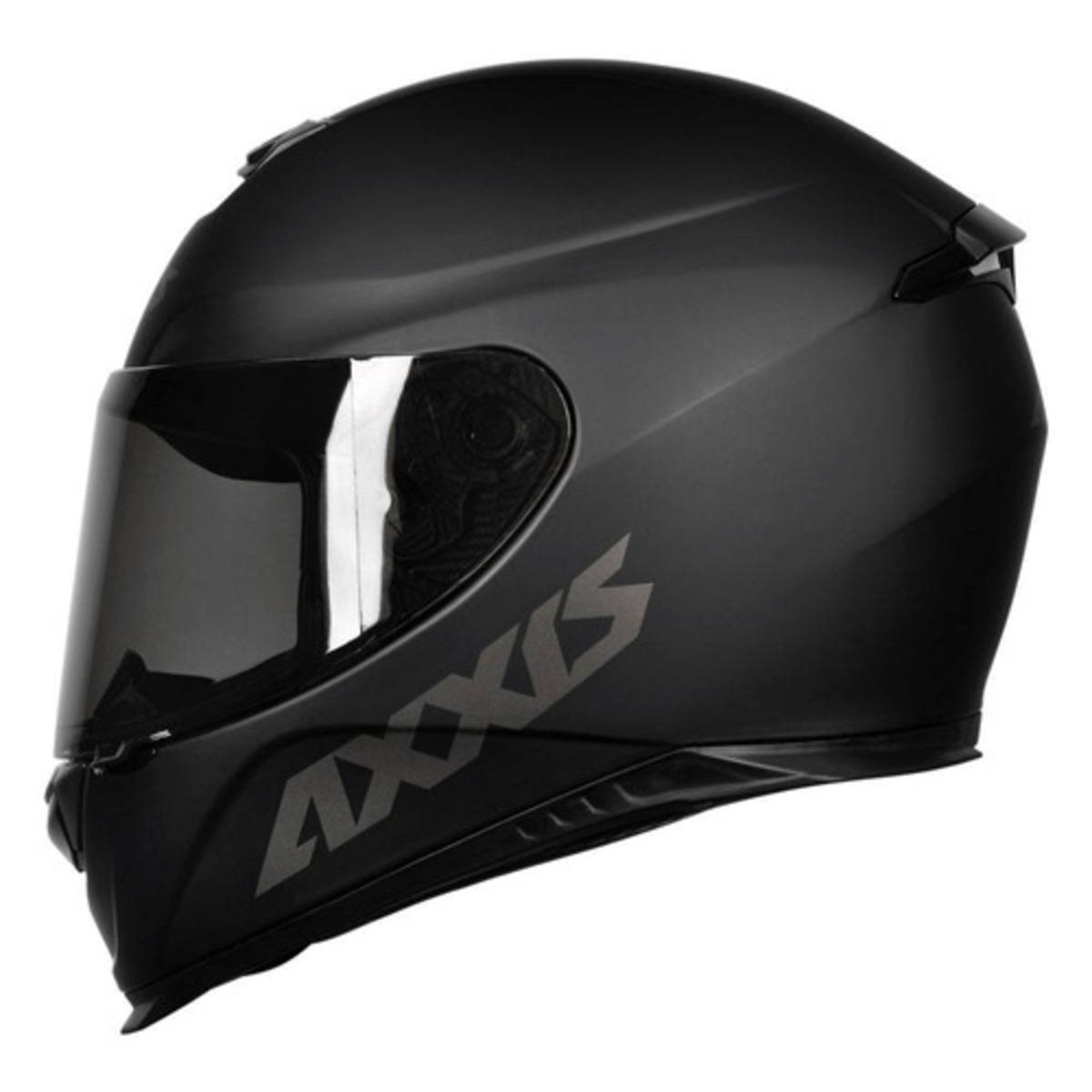CAPACETE AXXIS EAGLE SOLID MONOCOLOR MATTE BLACK/GREY 56/S