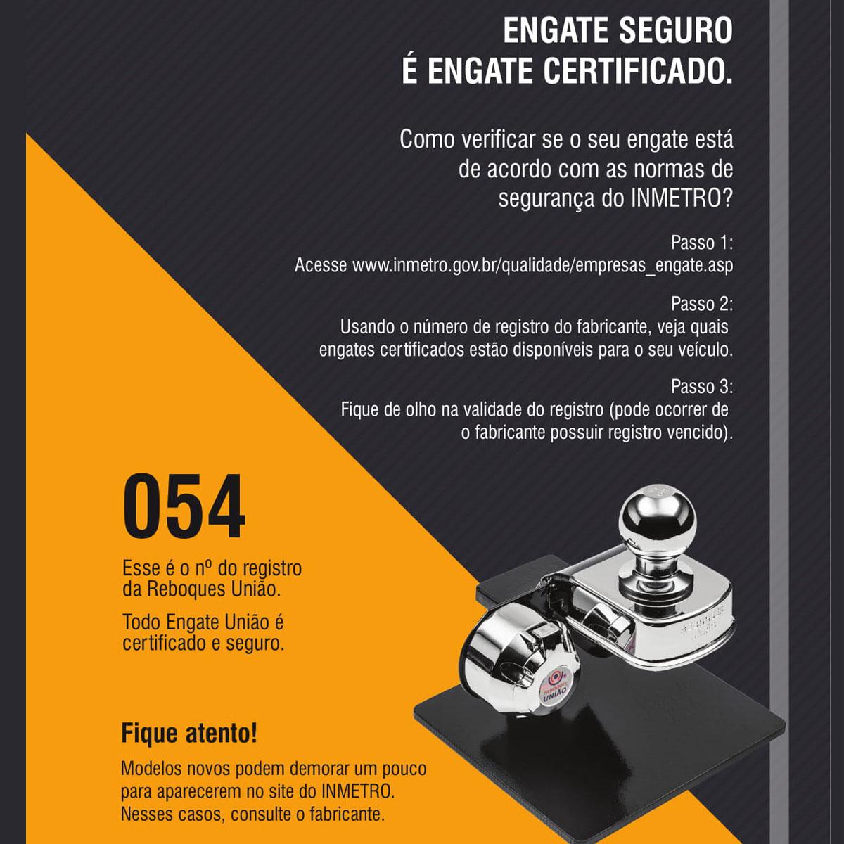 ENGATE DE REBOQUE FIAT ARGO REBOQUES UNIÃO FIXO