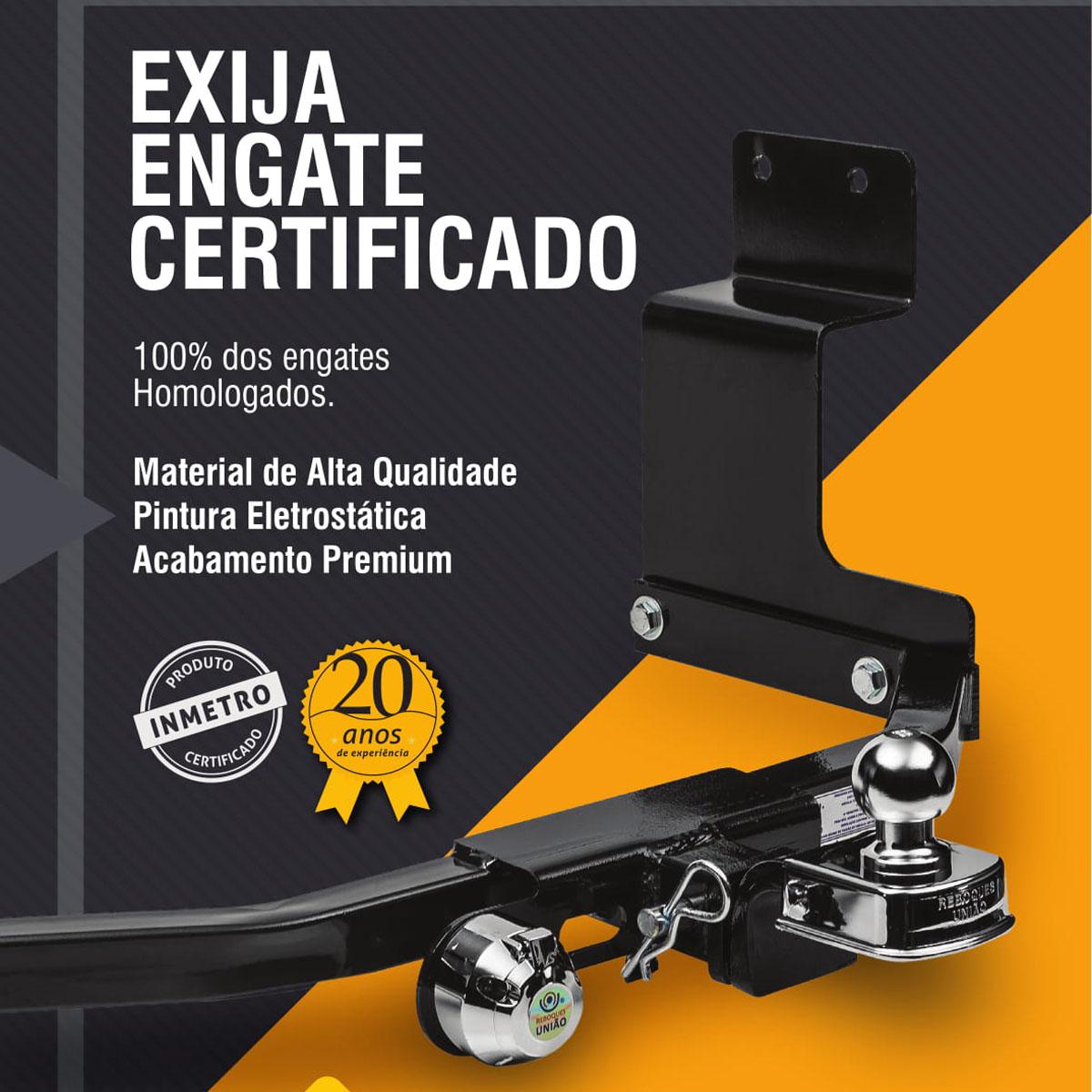 ENGATE DE REBOQUE TOYOTA COROLLA 2015 ATÉ 2019 REBOQUES UNIÃO FIXO