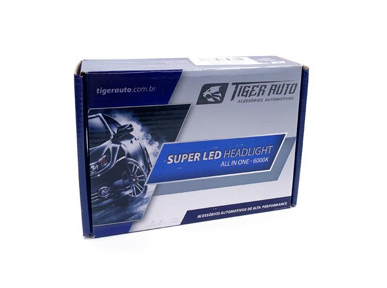 KIT PAR LÂMPADA SUPER LED TIGER AUTO H1/H3/H7/HB4/H8/H11/H27 Luz e Estilo para seu Carro!