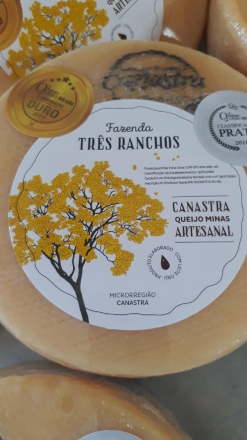 Queijo Canastra Fazenda Três Ranchos - Tradicional