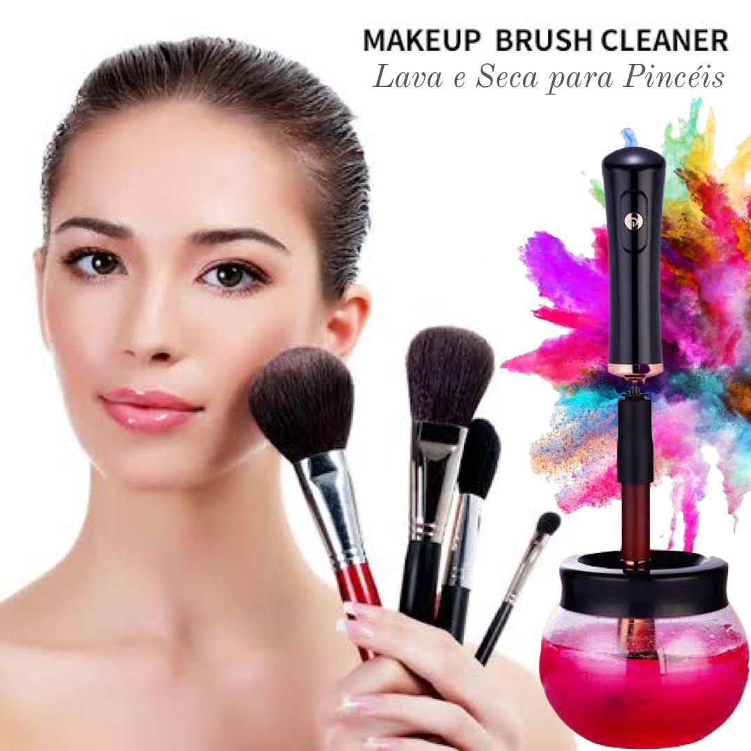 Brush Cleaner - Leva e Seca Automático para Pincéis de Maquiagem