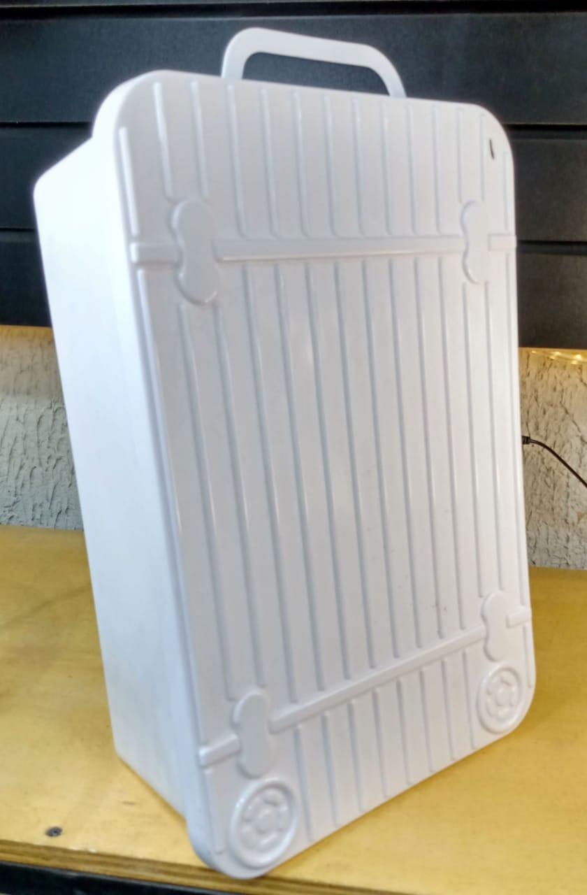 Caixa organizadora plástica com tampa - 35,7cm