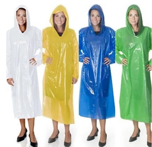 Capa de chuva plástica