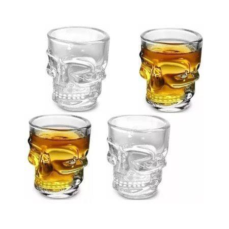 Conjunto de Copos para Drinks  - Caveira 4pçs
