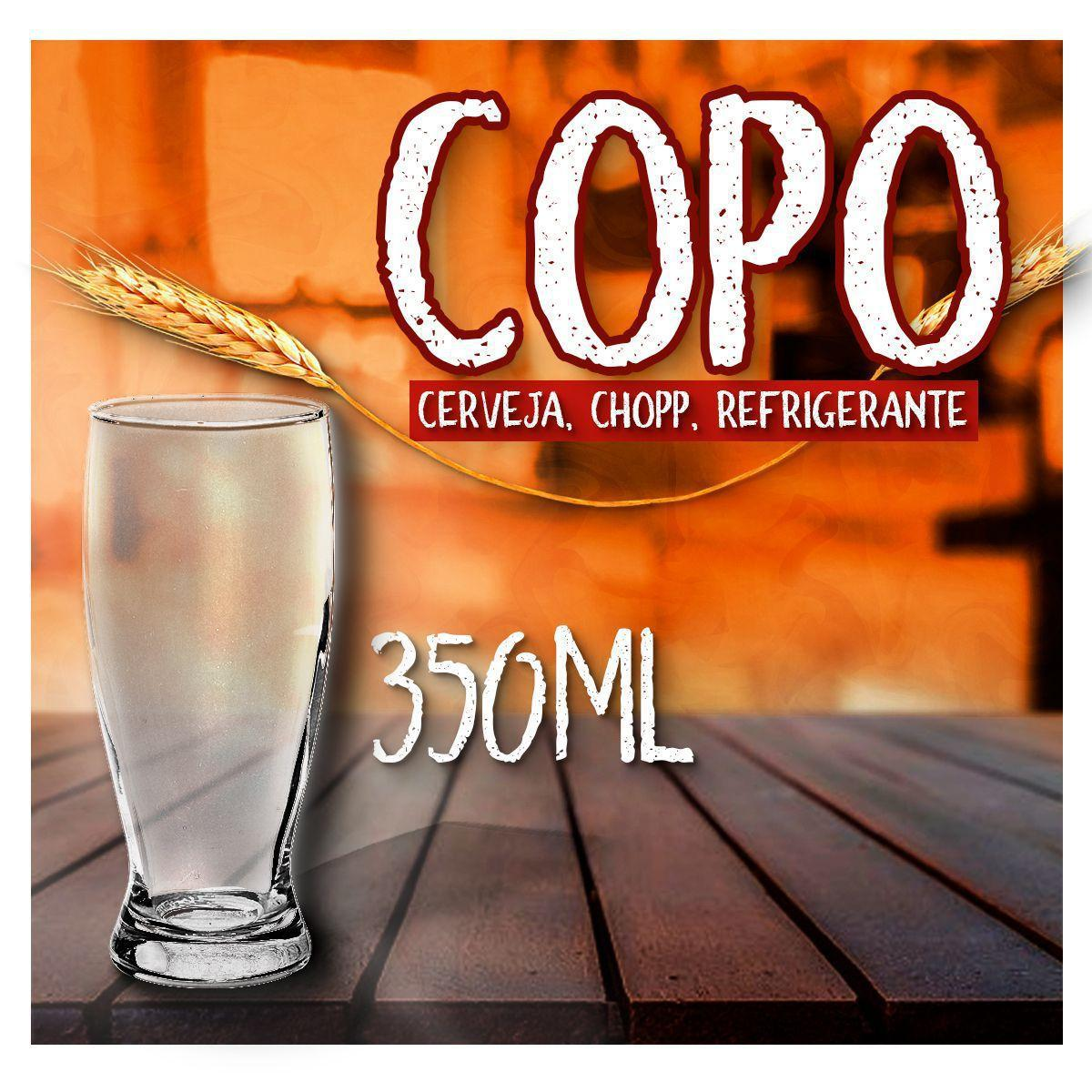 Copo chopp transparente - 350ml