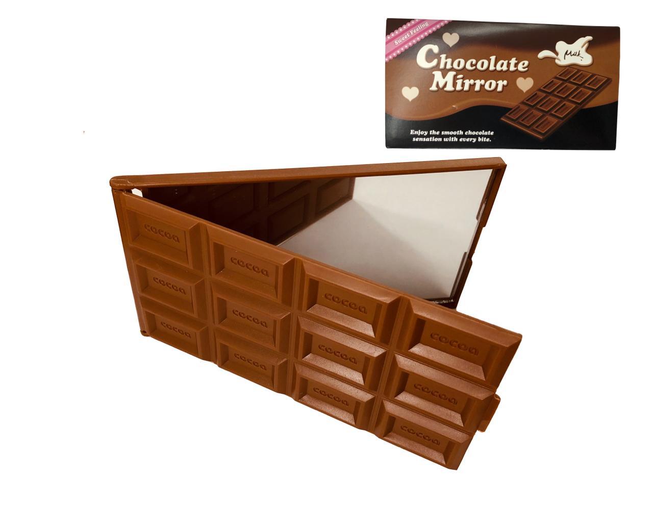 Espelho em formato de chocolate