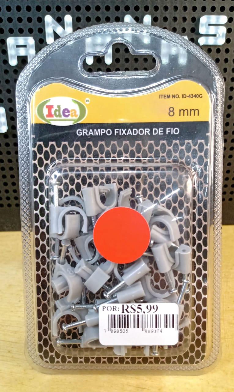 Grampo fixador de fios sets 8mm - 30 unidades