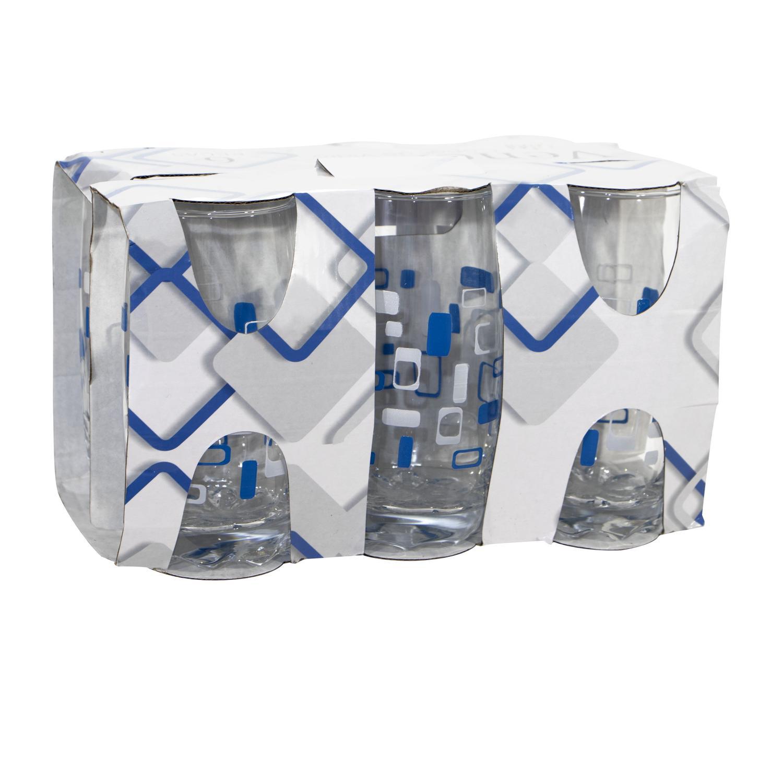 Jogo 6 copos água suco vidro resistente - 390 ml