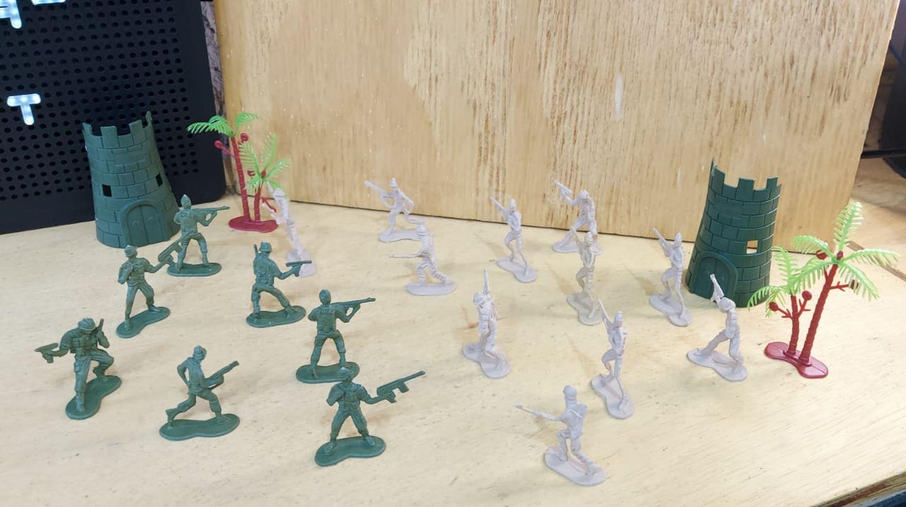 Exército Fort bonecos soldados - 20 peças