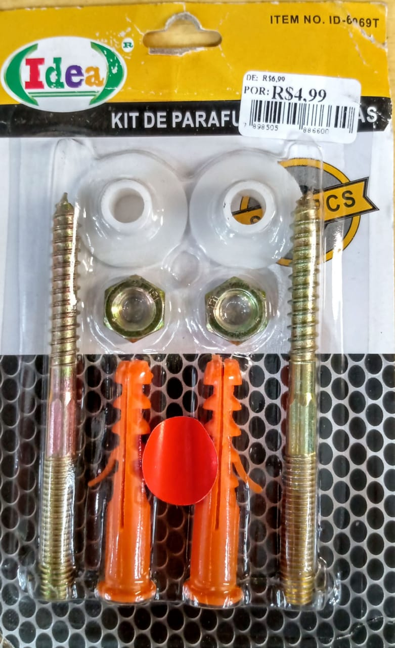 Kit de parafusos e buchas sets - 8 peças