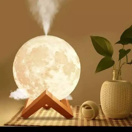 Lua 3d - luminária, umidificador e aromatizador