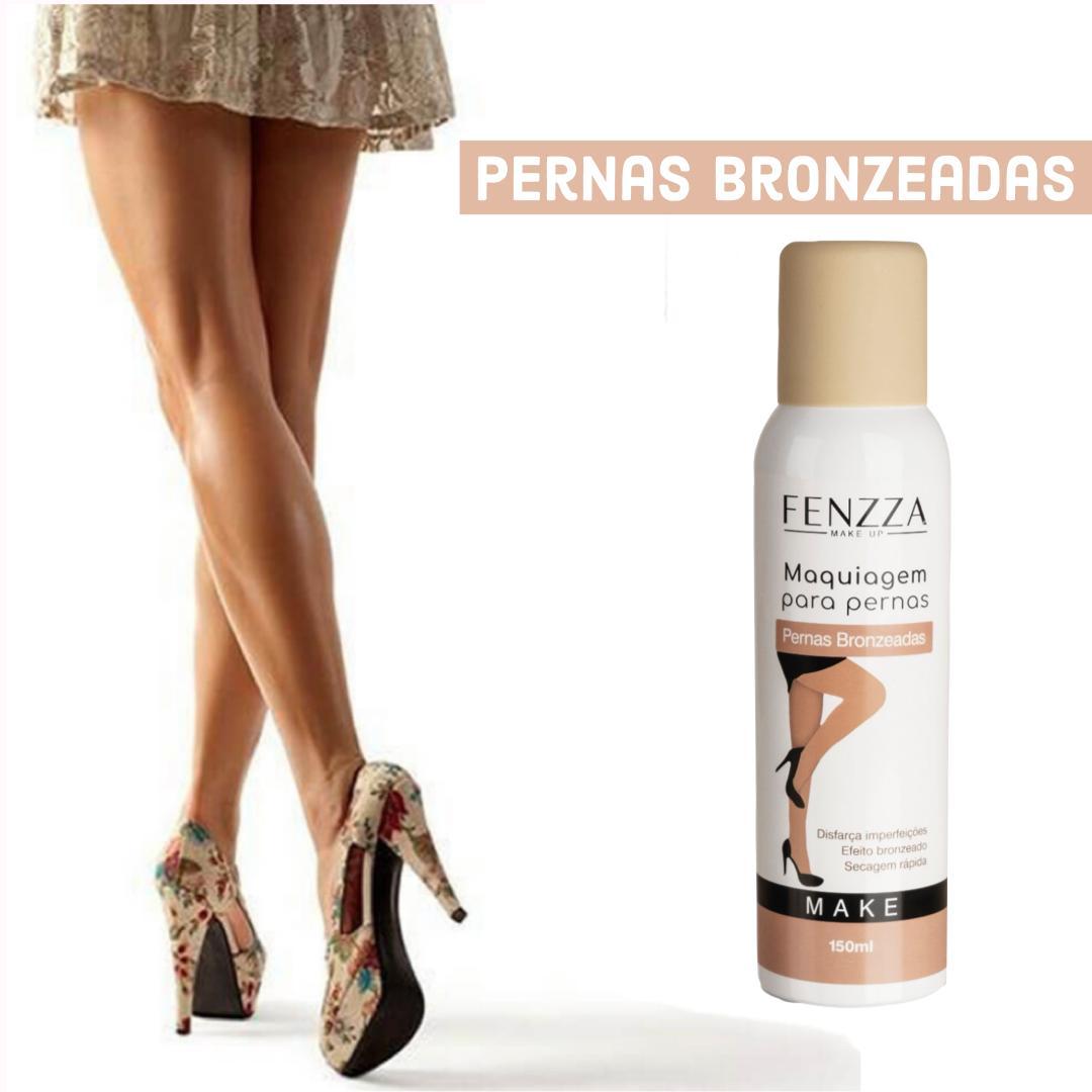 Maquiagem para pernas Fenzza - bege escuro