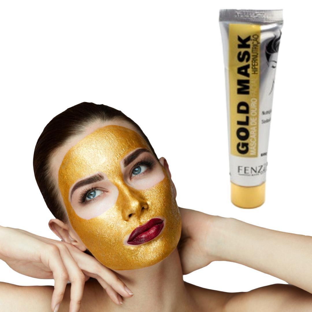 Máscara de ouro gold mask fenzza