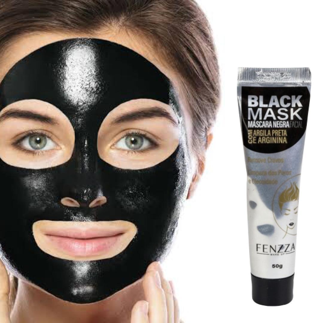 Máscara facial negra - Black Mask Fenzza - bisnaga 50g
