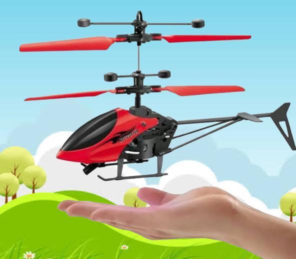 Mini Drone Helicóptero de mão - RECARREGÁVEL
