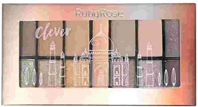 Mini Paleta de Sombra CLEVER  ruby rose - HB 9985-16