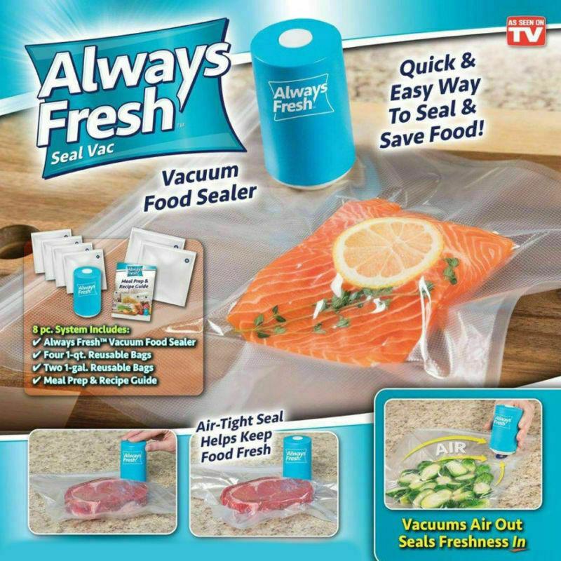 Embaladora à vácuo de alimentos Always Fresh + 6 Sacos reutilizáveis