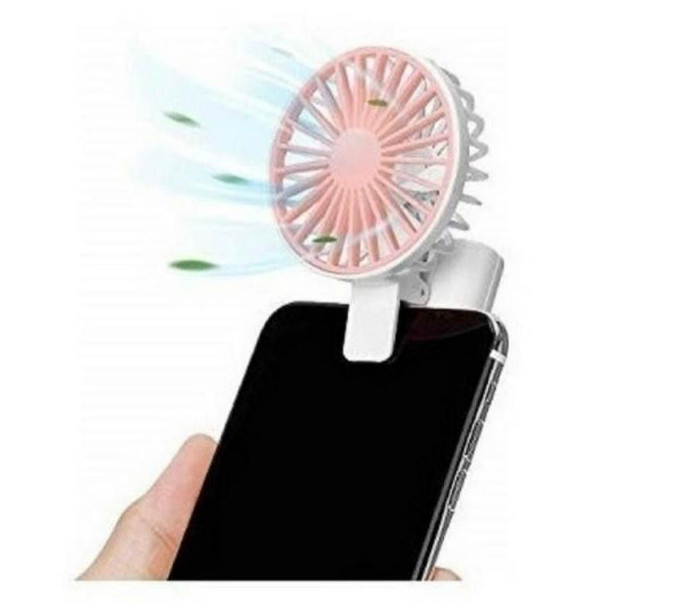 Mini ventilador para celular com clip - via usb