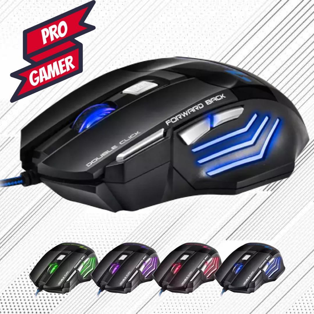 Mouse Gamer Laser X7 3200dpi Led Usb 7 Botões - Profissional