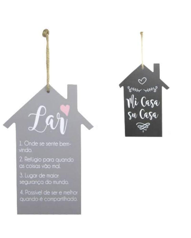 Placa decorativa de pendurar casa