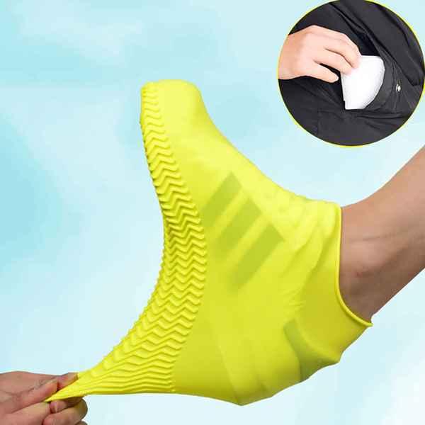 Protetor De Sapato Tênis Capa De Chuva Silicone Impermeável