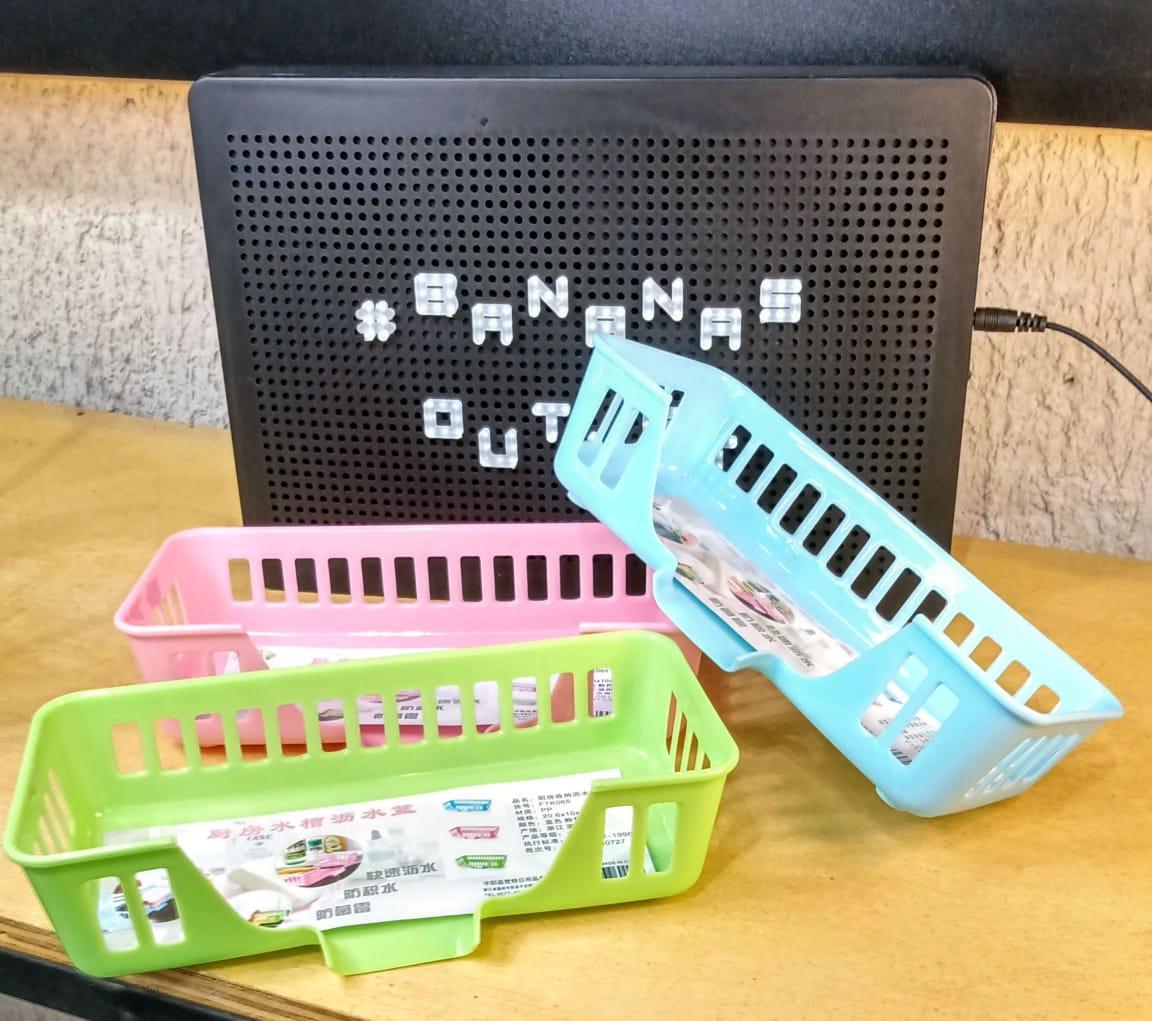 Suporte plástico para talheres - porta talheres - cores