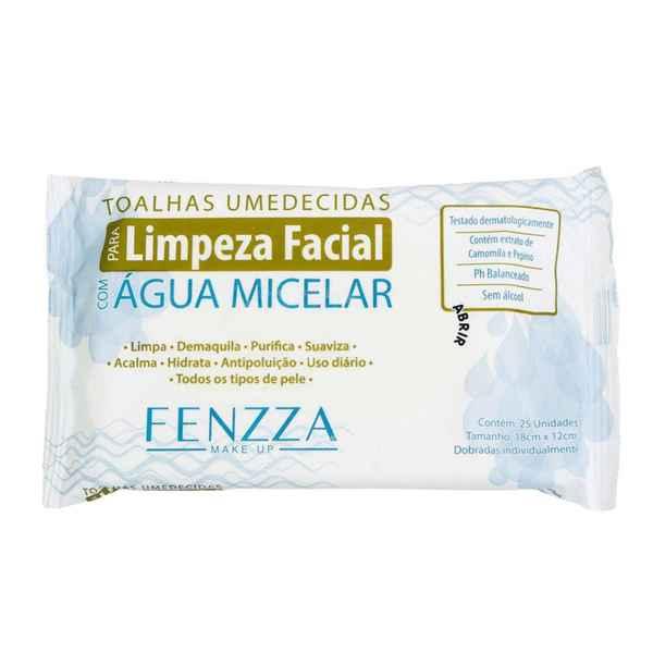 Toalhas umedecidas de limpeza facial Agua micelar