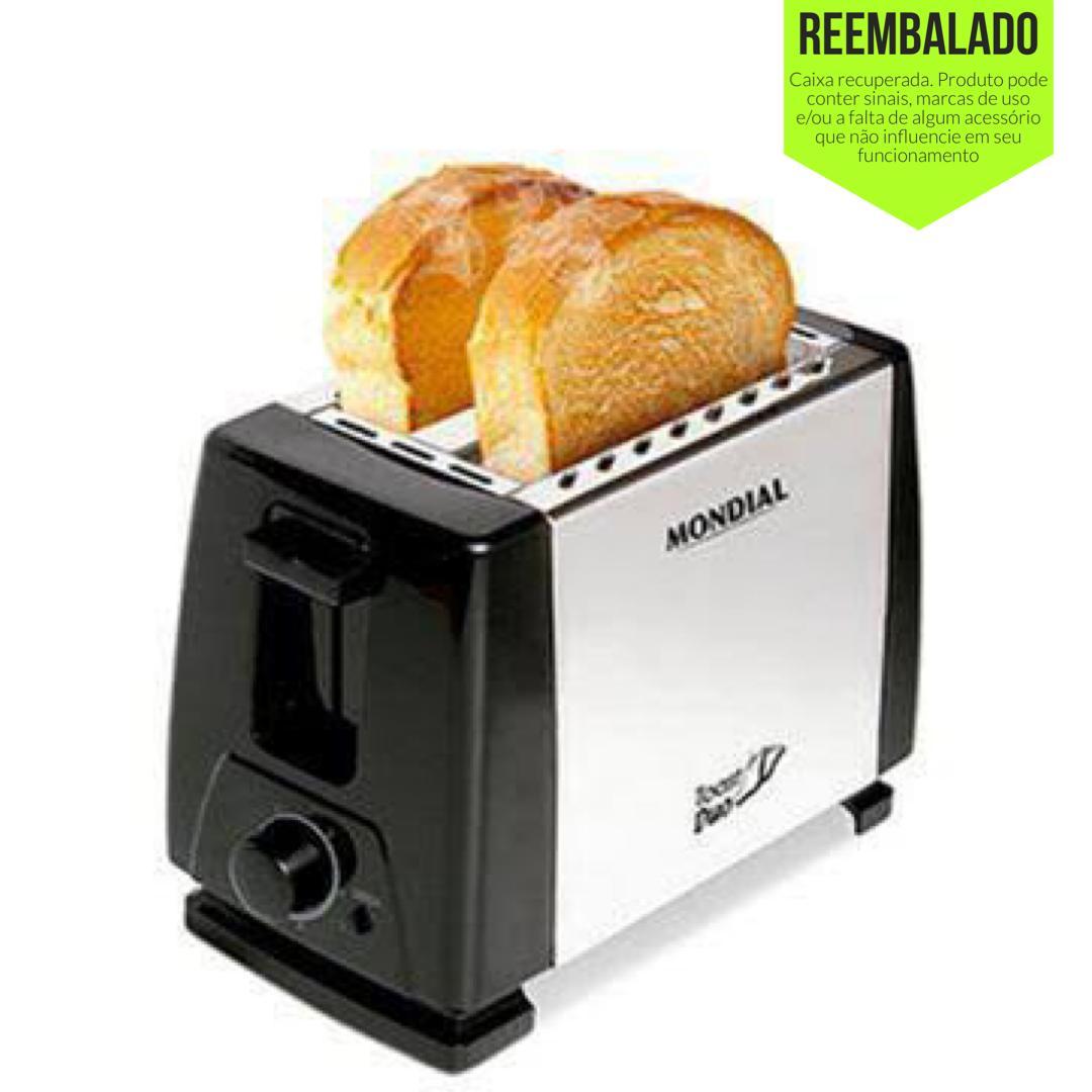 Torradeira Elétrica Mondial Toast Duo Nt-01 Prata