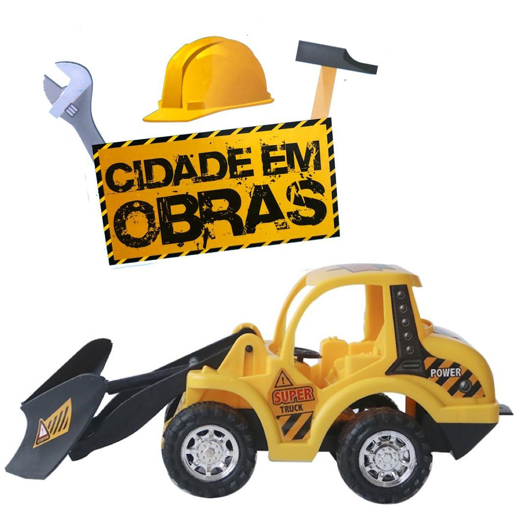 Trator de Brinquedo à fricção - 23,5 cm