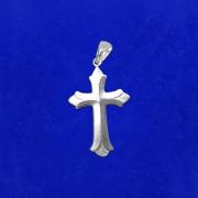 Pingente Prata 925 Cruz N. 02 Médio Legítimo Maciço Italiano