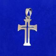Pingente Prata 925 Cruz Vazada Italiana Maciça Legítima