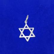 Pingente Prata 925 Estrela De Davi Pequena Legítima Maciça