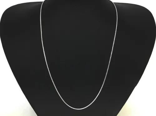 Cordão Corrente Veneziana Em Prata 925 Masculina 60cm 1 mm