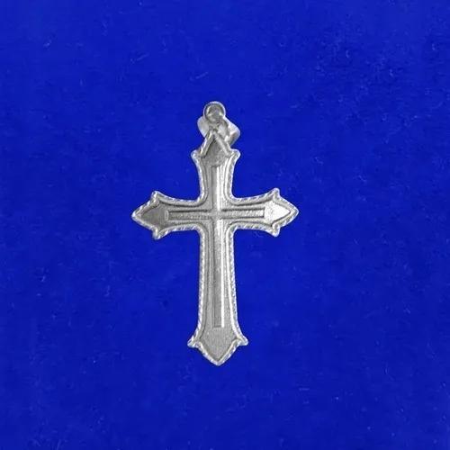 Corrente Masculina De Prata E Pingente Crucifixo Cruz