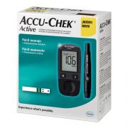 Accu - Check Active Kit Monitor de Glicemia Completo (Lancetador+Lancetas+Tiras Chip+Monitor+Estojo)