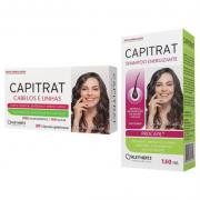 Kit Capitrat auxilio no crescimento capilar e unhas fortes c/ 30caps