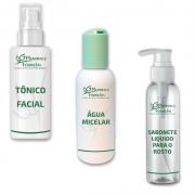 Kit Facial - Água Micelar , Sabonete Liquido e Tônico Facial