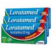 Loratamed 10mg |3 caixas c/ 12 comprimidos cada | CIMED