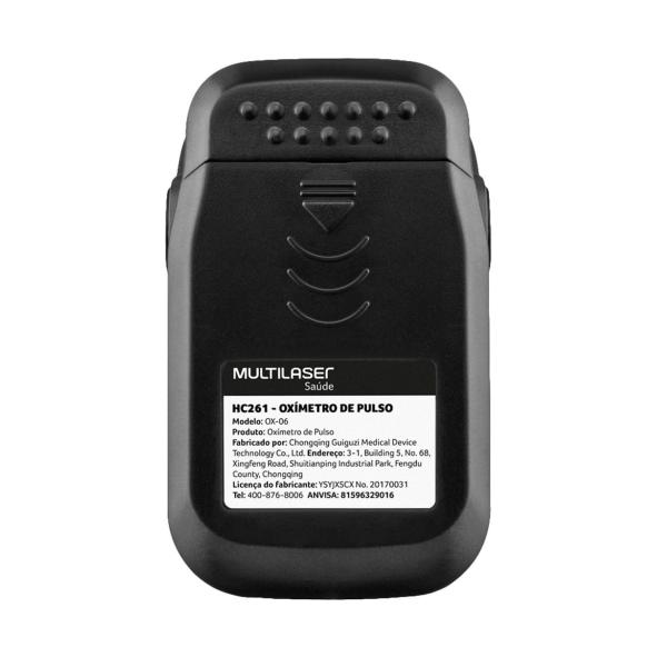 Oxímetro Digital de Dedo Pulso Portátil com Curva Plestimográfica Multilaser Ox-06 HC261
