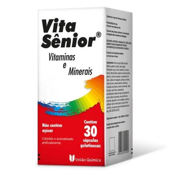Vita Sênior 30 Cápsulas Gelatinosas Vitaminas E Minerais