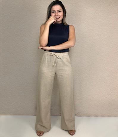Pantalona Linho Misto