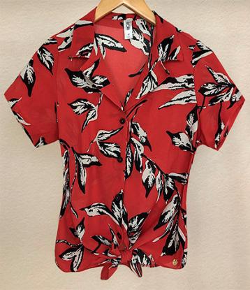 Camisa M/C crepe c/ nó