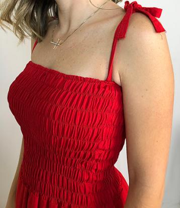 Vestido Crepe C/ Babado