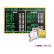 Painel Letreiro 90x60 Com 1000 Letras E Números Alumínio