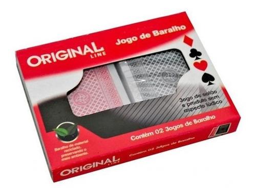 Jogo De Baralho Plástico Original Line - Estojo Com 2