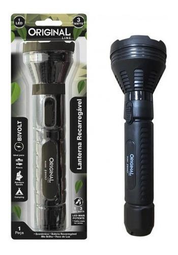 Lanterna Led Recarregável Bivolt 3w - Original Line