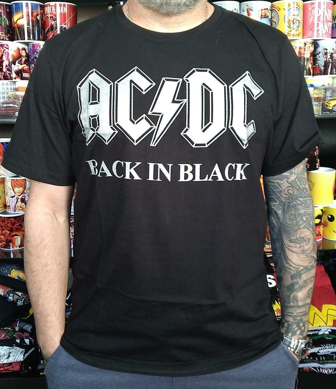 CAMISETA ACDC BACK IN BLACK BOMBER