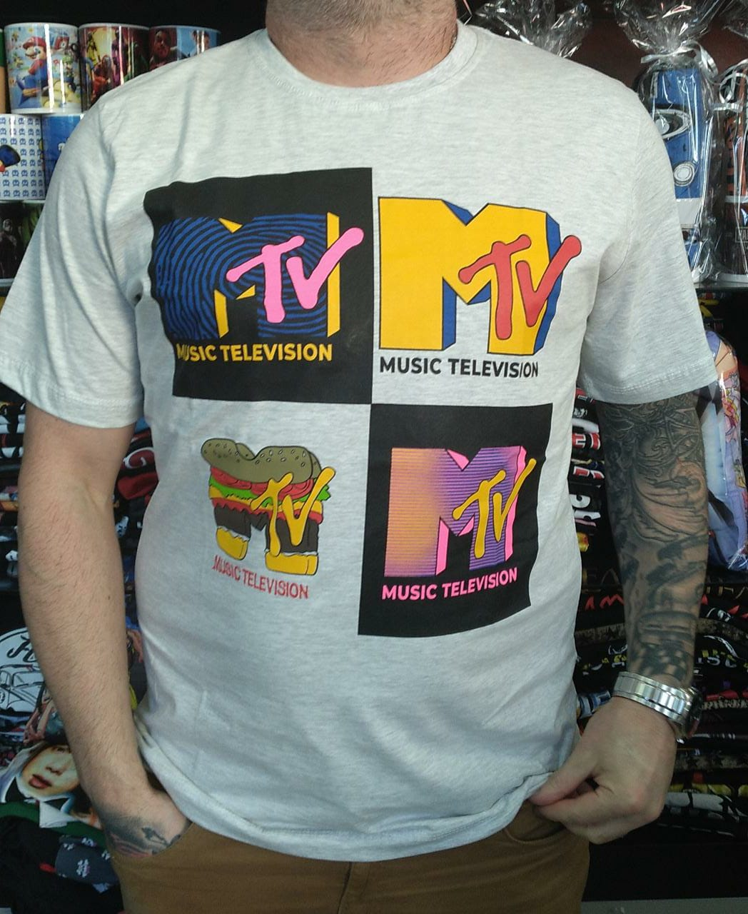 CAMISETA MTV - MESCLA CLARO