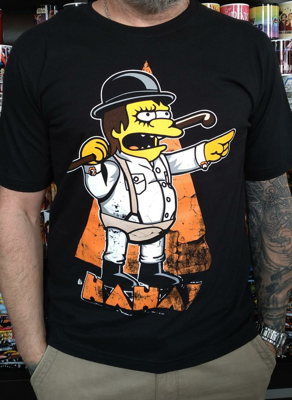 CAMISETA SIMPSONS ORANGE